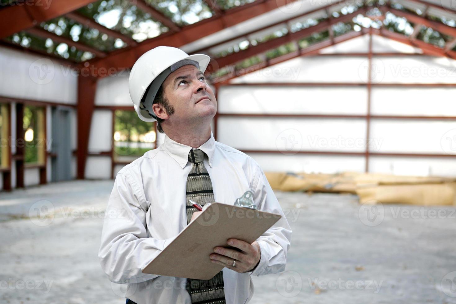 byggnadsinspektör eller ingenjör foto