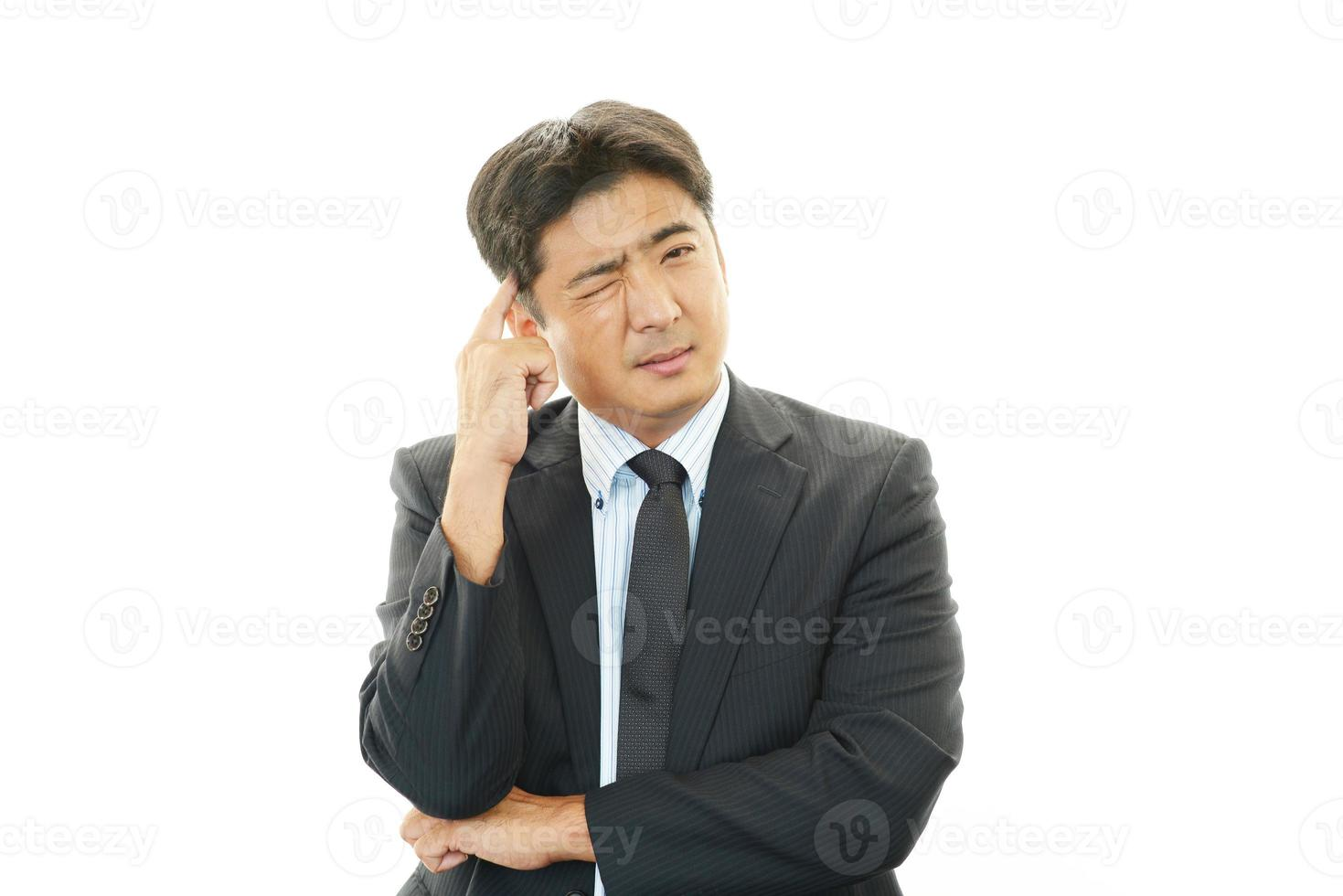frustrerad affärsman foto