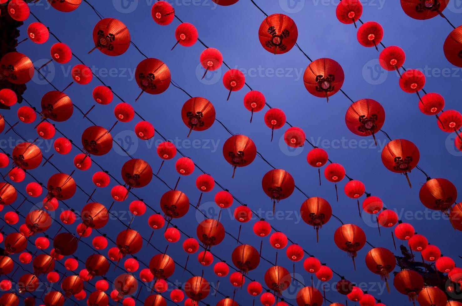 röda lyktor foto