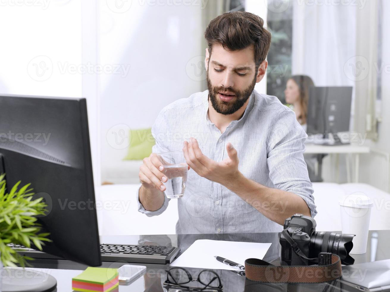 stressad affärsman foto