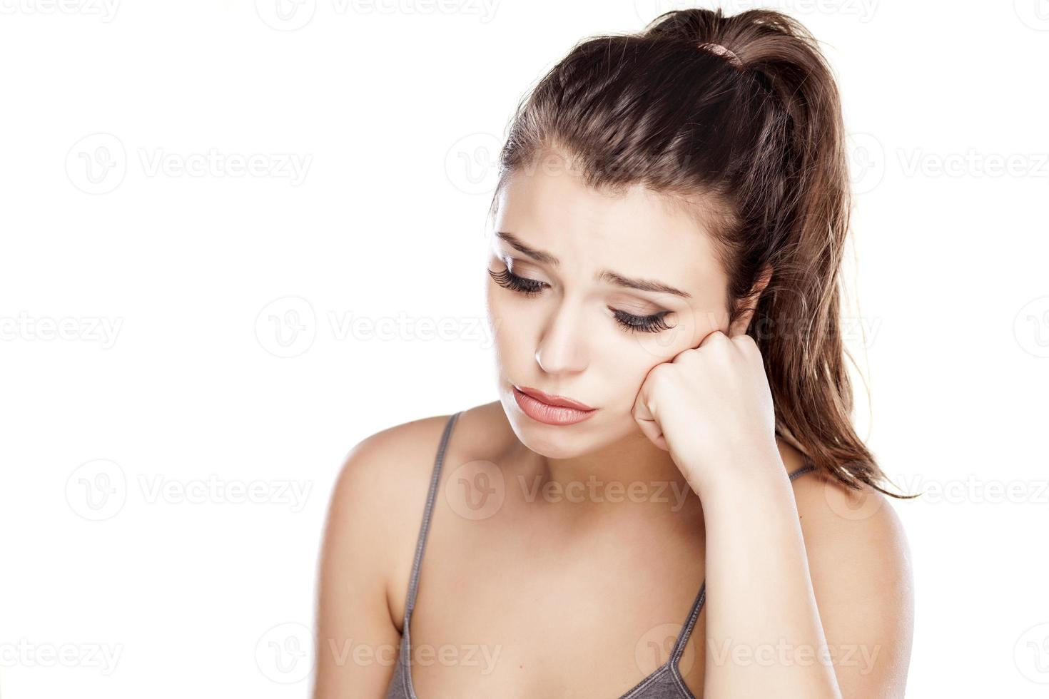 ledsen och ensam foto