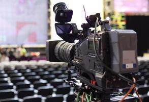 professionell digital videokamera. foto