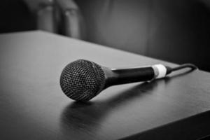 gammal mikrofon foto