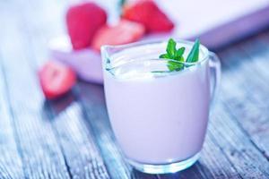 jordgubbsyoghurt foto
