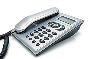 digital telefon med flytande kristallskärm foto