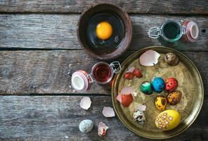 påsk dekorativa ägg foto