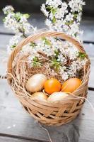 korg med påskfärgade ägg