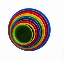 färgade koncentriska cirklar foto
