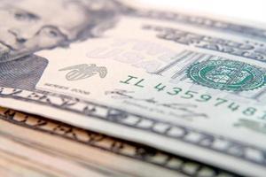 jackson porträtt framför dollarräkningen foto