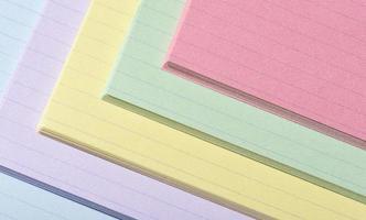 färgglada indexkort foto