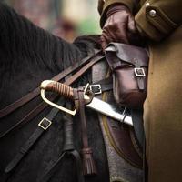 närbildssele och sabel vid polsk kavalleri foto