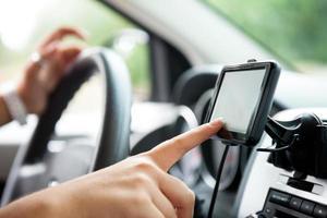 fingerinställning navigationssystem foto