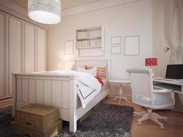 sovrum i medelhavsdesign foto