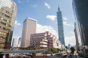 utsikt över Taipei foto
