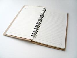 öppen dagbok foto