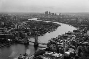 utsikt över Tamigi - London - England foto