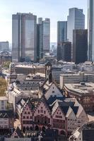 frankfurt am main tyskland finansiella distrikt foto