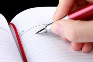 lägg till anteckningen i dagboken