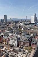 frankfurt är huvudsakliga tyskland stadsbild foto