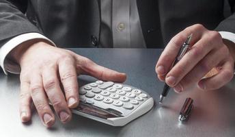 kroppsspråk för en finansiell person foto