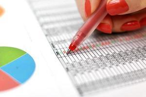 statistik över köp och försäljning foto