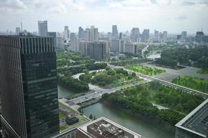 kejserliga trädgårdar - affärsdistrikt - tokyo foto