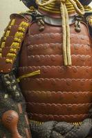 samurai rustning, japan. foto