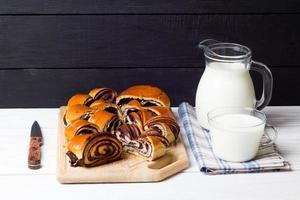 rulle snitt och mjölk foto