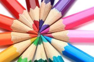 färgpennor, närbild foto