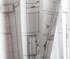 isolering av flera ritningar för projektet foto