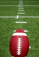fotboll med gårdslinjer bortom foto