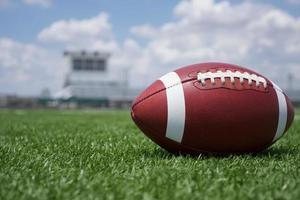 amerikansk fotboll på fältet foto