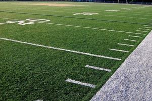 amerikanska fotbollsplan gårdslinjer foto