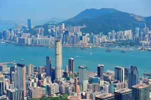 flygfoto från Hong Kong
