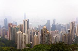 utsikt över Hong Kong foto