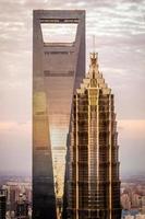 jin mao & shanghai World Financial Center foto