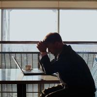 deprimerad affärsman foto