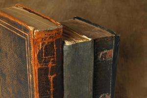 retro komposition med böcker
