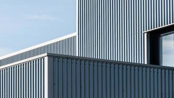 arkitektoniska linjer i en industribyggnad foto