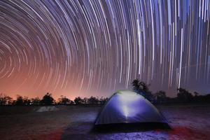 roterande stjärnor foto