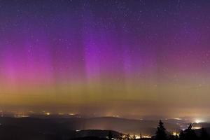 polarlicht über deutschland foto