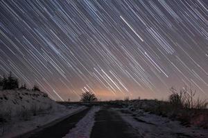 regn av stjärnor foto