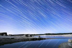 långa stjärnspår foto