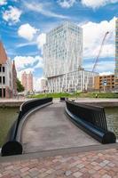 moderna byggnader i Rotterdam, Holland foto