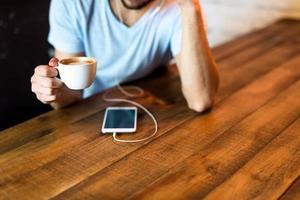 kaffe och trådlöst foto