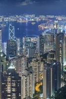 horisont av Hong Kong City foto