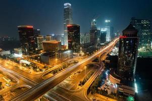nattetid stadshorisont av Peking, huvudstaden i Kina foto
