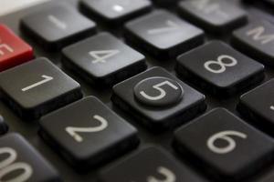 miniräknare tangentbord foto