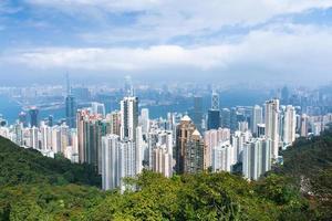 utsikt över Hong Kong på dagen