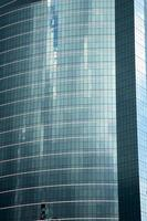asien bangkok thailand av några blå skyskrapa fönster foto